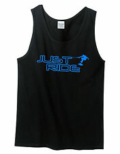 JUST RIDE WAKE SKATE TANK TOP SHIRT SINGLET SKATER WAKE BOARD BOAT