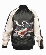 2013 Vogue Tokyo Japanese Embroider Baseball Bomber Jacket Carp Cherry Dragon