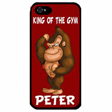 Cover for Iphone 4 4S Gorilla Funny Cartoon Personalised with name Phone case
