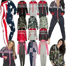 Adult Womens Mens Onesie All In One Fleece Jumpsuit Aztec Camo Camouflage USA