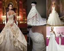 2013 New Stock Wedding Dresses Prom/Bridal Gown Stock Size:6-8-10-12-14-16-18