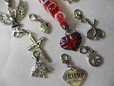10 Loom Bands Charms Animal Designs Ideal For Necklaces, Earrings & Bracelets