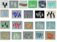100PCS variety of color #5601 CUBE CRYSTAL HOLE BEADS 6MM