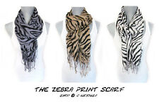 LIGHTWEIGHT ZEBRA PRINT SCARF animal print spring summer cheetah head wrap beach
