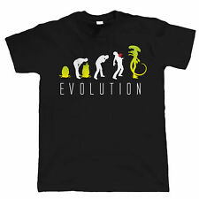 Evolution of Alien Funny Mens Sci-Fi- T Shirt