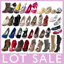 WHOLESALE LOT WOMENS SHOES HIGH HEEL PLATFORM WEDGE PUMP SANDALS BOOTS FLATS