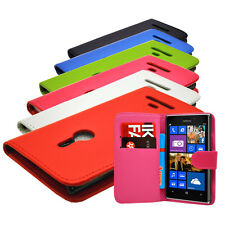 NEW 6 COLOUR WALLET BOOK FLIP MOBILE PHONE CASE COVER FOR NOKIA LUMIA 925 N925