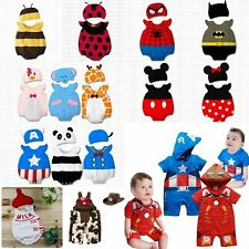 Baby Boy Girl Mickey Minnie Bee Ladybird Party Costume DressOutfit+Hat Set 3-24M