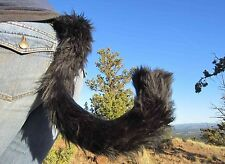 AnthroWear KITTEN CAT TAILS - Furry Clip-On Costume Tails - Hand Made In USA