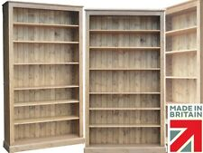 Solid Pine Bookcase, 7ft Tall x 4ft Wide Extra Deep Heavy Duty Bookshelves