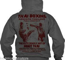 Muay Thai Sweat Shirt Hoodie, full zip
