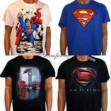 Official Superman t shirts, DC comics, WB tm tees, men urban street marvel youth