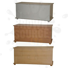 Ottoman Storage Chest Toy Blanket Storage or Bedding Box Pine Beech White New