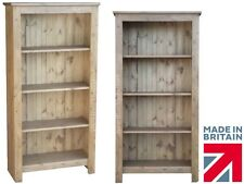Solid Pine Bookcase, 1450mm x 750mm Handcrafted & Waxed Display Shelving Unit