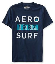 NWT Aero Aeropostale Short Sleeve Navy Aero 1987 Surf Graphic Tee T Shirt