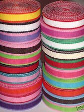 "Grab Bag Lot of Assorted 3/8"" Grosgrain Lollipop Ribbon Two Tone 25 or 50 Yards"