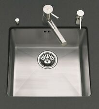 SUTER PURISMO STAINLESS STEEL UNDERMOUNT  KITCHEN SINKS, BRUSHED STEEL