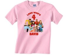 Fresh Beat Band Personalized Custom Birthday Shirt in White, Blue, Pink & Yellow