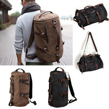 Men's Vintage Canvas Tote Bag Hiking Travel Military Bag Messenger Bag Backpack