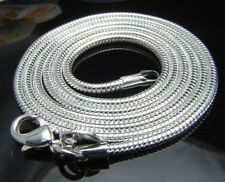 20 pcs 2mm 16~24 inches Silver Plated Snake Necklace Chains Men/Women wholesale