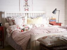 NEW AKERKULLA Duvet cover w/ pillowcase(s) Floral Pattern on White Ikea Bedlinen