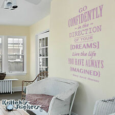 Go Confidently In The Direction Vinyl Wall Decal Henry David Thoreau Quote L005