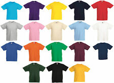 FOTL Kids Valuweight T-Shirt (1-13 years) Cotton Plain Top 18 Colours Childrens
