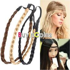 New Pretty Girl Plait Braided Hair Head Plaited Band RTCA