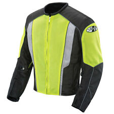 JOE ROCKET PHOENIX 5.0 MESH MOTORCYCLE RIDING JACKET NEON BLACK WATERPROOF LINER