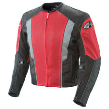 JOE ROCKET PHOENIX 5.0 MESH MOTORCYCLE RIDING JACKET RED BLACK WATERPROOF LINER