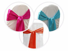 25 New SATIN Chair Sash BOWS Ties Wedding Bridal Party Supplies Decorations SALE