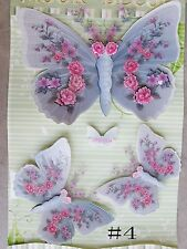 3D Wall Art Stickers Removable Wall Stickers Decals 3pcs Butterfly