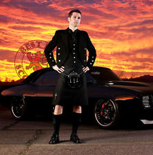 Men's MODERN BLACK KILT - High Quality Casual Men's Kilt - Sizes 28 - 44