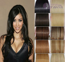 "Cheap 5PCS 40G 100% remy human hair clip-on in extensions 16"" 20"" any colors!HOT"
