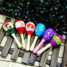Wooden Maraca Wood Rattles Musical Party Favor Child Baby Shaker Kid Toy A1505