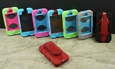 IMPACT HYBRID HARD CASE BELT CLIP w/ BUILT IN SCREEN for APPLE iPHONE 4 4S PHONE
