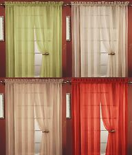 4 PC SHEER VOILE WINDOW CURTAIN PANEL, 20 COLORS, GREAT QUALITY SHEER CURTAIN