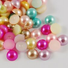 Half Pearl Acrylic Cabochons Choose from 2.5mm - 14mm or Mixed Value Pack
