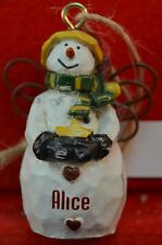 Ganz Country Snow Angel Personalized Ornaments Names K Thru M