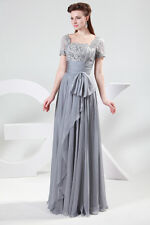 Glamorous Chiffon Lace Bridal Bridesmaid BallGown Long Evening Prom Party Dress