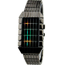 NEW Fashion Date Binary Colorful LED Digital Sport Men Unisex Dial Wrist Watch D