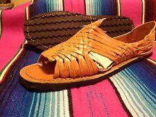 Mens LEATHER MEXICAN SANDALS light brown HUARACHE *made in mexico* SHOES