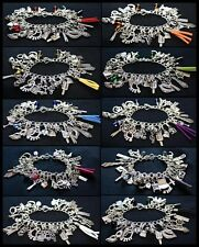 10x Fifty Shades of Grey Charm Bracelet 50 Flogger Cincuenta Sombras Wholesale