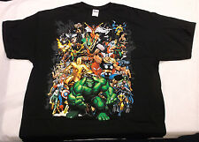 Mad Engine All Marvel Characters Short Sleeve T-shirt Tee