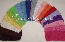 """One Crochet 3"""" Interchangeable Headband for Hair Bows Korkers or Flower Clips"""