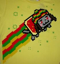 Nyan Cat T-Shirt Pop-Tart Cat with RASTA Rainbow Trail BRAND NEW WITH TAGS
