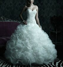 New Strapless Wedding Dresses Gorgeous Bridal Ball Gowns Custom/Standard Size
