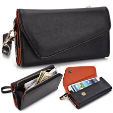 Kroo Fall Flip Designer PU Leather Smartphone Wrist-Let Cover Pouch Bag Guard O1