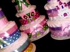 Diaper Cake Centerpieces for Baby Boy  Girl and neutral/ Pick your favorite cake