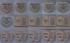 Graveside Memory Heart Butterfly Book Verse Plaques Son Dad Mum Daughter Dog Cat